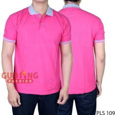 Harga Gudang Fashion Polo Shirt Basic Simple Pria Pink Fanta Kerah Abu Asli Gudang Fashion