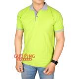 Spesifikasi Gudang Fashion Polo Shirt Laki Laki Hijau Pupus Kerah Abu Muda Yg Baik