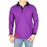 Gudang Fashion Polo Shirt Lengan Panjang Ungu Kerah Kerah Hitam Gudang Fashion Diskon 30