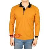Harga Gudang Fashion Polo Shirt Tangan Panjang Pria Kuning Kunyit Kerah Hitam Gudang Fashion Jawa Barat