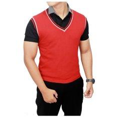 Harga Gudang Fashion Rompi Casual Rajut Pria Merah Original