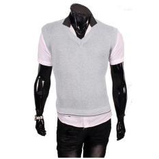Gudang Fashion - Rompi Pria Casual - Abu