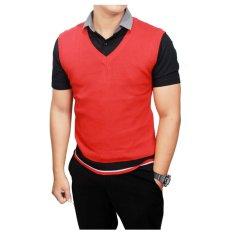 Gudang Fashion - Rompi Rajut Casul Pria - Merah