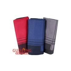 Gudang Fashion - Sapu Tangan Isi 3 Pcs - Merah Biru Abu