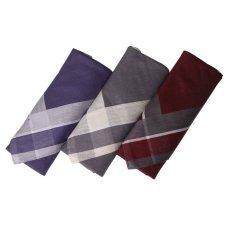 Gudang Fashion - Sapu Tangan Pria Katun Isi 3Pcs - Multi Color