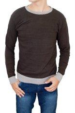 Jual Gudang Fashion Stylish Male Sweaters Coklat Di Jawa Barat