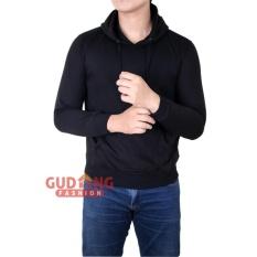 Diskon Gudang Fashion Sweater Cardigan Pria Rajut Hitam