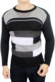 Jual Gudang Fashion Sweater Fashion Male Hitam Kombinasi Termurah