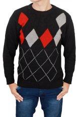 Harga Gudang Fashion Sweater Laki Laki Dewasa Hitam Lengkap