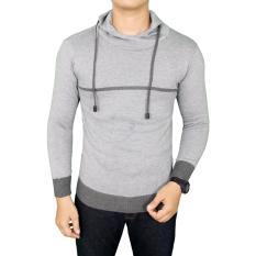 Harga Gudang Fashion Sweater Modis Casual Pria Abu Muda Original