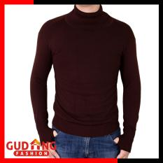 Spek Gudang Fashion Sweater Polos Oblong Rajut Tangan Panjang Hitam Long Knitt Basic Coklat Tua