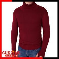 Toko Gudang Fashion Sweater Polos Oblong Rajut Tangan Panjang Long Knitt Basic Maroon Dekat Sini