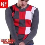 Gudang Fashion Sweater Pria Bahan Rajut Motif Kotak Kombinasi Warna Promo Beli 1 Gratis 1