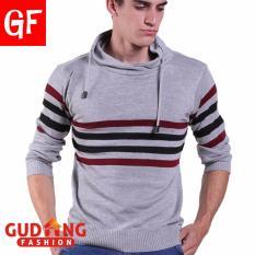 Gudang Fashion Sweater Pria Casual Abu Muda Diskon Akhir Tahun