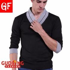 Harga Gudang Fashion Sweater Pria Keren Terbaru Hitam Termahal