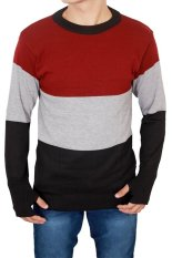 Harga Gudang Fashion Sweater Pria Modern Hitam Paling Murah