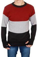 Spesifikasi Gudang Fashion Sweater Pria Modern Hitam Dan Harga