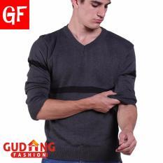 Harga Gudang Fashion Sweater Pria Simple Casual Abu Murah