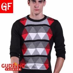Spesifikasi Gudang Fashion Sweater Rajut Kombinasi Warna Hitam Baru