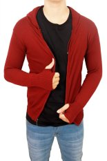 Jual Gudang Fashion Sweater Rajutan Maroon Import
