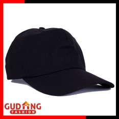 Gudang Fashion - Topi Polos Basic Twill Wanita - Hitam