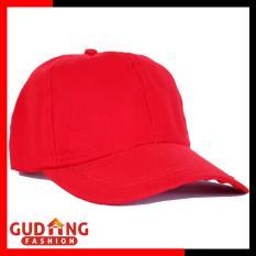 Gudang Fashion - Topi Cantik Polos Twill - Merah