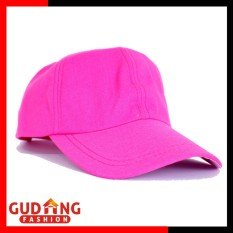 Gudang Fashion - Topi Baseball Cap Polos Wanita - Merah Muda
