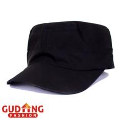 Gudang Fashion - Topi Komando Polos Pria - Hitam