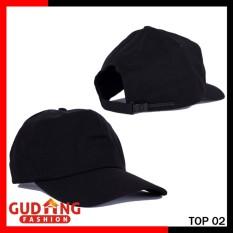 Gudang Fashion - Topi Polos Bahan Twill - Hitam