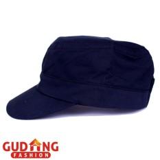 Gudang Fashion - Topi Polos Komando / Military Canvas Cap - Navy