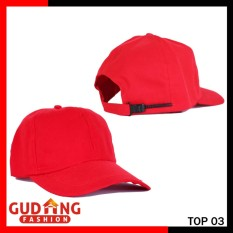 Gudang Fashion - Topi Polos Twill Pria - Merah