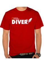 Gudangclothing T Shirt Diver National Geographic Merah Terbaru