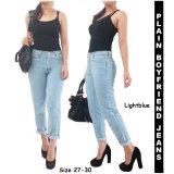 Harga Gudanggrosir Celana Panjang Premium Wanita Boyfriend Jeans Light Blue Baru