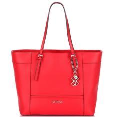 Tas Wanita Original Guess Delaney Shoulder Bag GYEY453522 - CNY Red