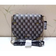 Tas Wanita Original Guess Jetset Mini Woman Shoulder Bag SG643079 - Brown Multi