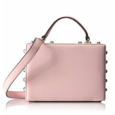Tas Wanita Original Guess Women's Hanson Top Handle Trunk Satchel Handbag 663935 - Light Rose