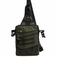 Gun Bag Hoozler Tas Selempang/Pinggang/Punggung Waistbag Pria untuk HP/Power Bank/Smartphone/Tablet 10 Inch [Green/Hijau]