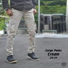 Review Gunz Celana Kargo Pants Cream Jawa Barat
