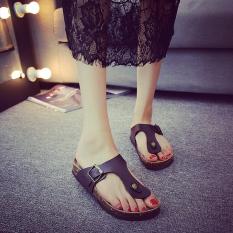 Beli Guoluofei Sandal Sandal Wanita Modis Gabus Jepit Kaki 102 Coklat Sandal Jepit Sepatu Wanita Sandal Wanita Cicilan