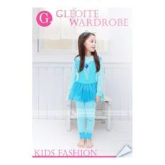 gw 141g pakaian anak perempuan / baju setelan kaos piyama