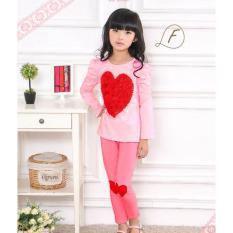 gw ff pakaian anak perempuan / baju setelan kaos piyama fashion