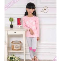 gw fh pakaian anak perempuan / baju setelan kaos piyama fashion