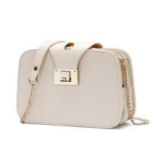 GX Diagonal Span Tas Wanita Fashion Tas Bahu Tunggal Rantai Smallsquare Paket Putih-Intl
