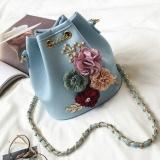 Spesifikasi Gx Three Dimensional Flowers Bucket Bag Mini Small Bag Summer Newsweet Lady Small Bag Chain Messenger Bag Shoulder Bag Blue Intl Terbaru