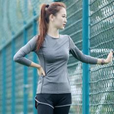 Spesifikasi Kebugaran Musim Semi Dan Cepat Kering Kebugaran Room Pakaian Musim Panas Yoga Murni Abu Abu T Shirt Murni Abu Abu T Shirt Bagus