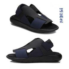 Gz198y3 Baru Sol Tebal Muda Kayu Cendana Pantai Sandal Musim Panas (Warna Biru)