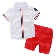 Harga H118 Summer Cotton Baby Boy S Kids Anak Pakaian 2 Pcs 1 Set T Shirt Celana Pendek Age 1 5 Putih Intl Oem Tiongkok