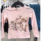 Jual Cepat H M Kaos Kucing Merah Muda