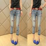Jual Han Edisi Fashion Model Menunjukkan Tipis Jeans Pensil Celana Sembilan Menit Dari Celana Panty Intl Termurah