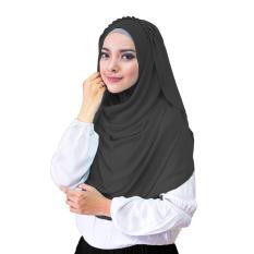 Hana Ceruti Hijab Jilbab Instan Instant - [Warna Hitam]